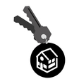 real estate house keys vector image