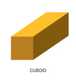3d shape cuboid vector image vector image
