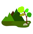 abstract cute landscape vector image