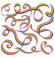 abstract lines rainbow swirls design elements vector image