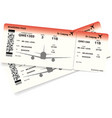 airplane ticket boarding pass ticket template vector image vector image