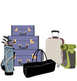 Airport baggage vector image