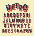 alphabet font retro design vector image vector image