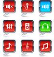 Audio balloon icons vector image vector image
