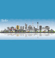 berlin germany skyline with gray buildings blue vector image vector image