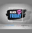 black friday sale fashion banner blue pink concept vector image vector image