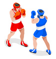 Boxing 2016 Sports 3D Isometric vector image vector image