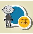 boy kids happy icon vector image vector image