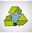 bulb energy eco recycle concept graphic vector image vector image