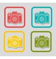 camera icons design vector image vector image