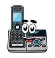 Cartoon cordless phone vector image vector image