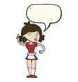 cartoon surprised maid with speech bubble vector image vector image