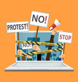 censorship of the internet and media vector image vector image