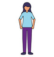 character woman on white background vector image vector image