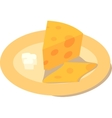 Cheese with a butter on a plate vector image