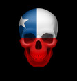 Chilean flag skull vector image vector image