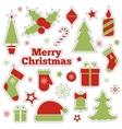 Christmas fashion patches stickers vector image