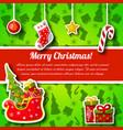 christmas symbols postcard vector image vector image