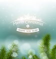 Christmas tree on a background of a snowy vector image
