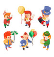 circus party fun carnival clowns funny performance vector image vector image