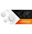 coronavirus covid19-19 disease global outbreak vector image vector image