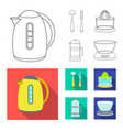 design of kitchen and cook icon set of vector image