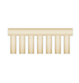empty label with shape of the comb vector image vector image