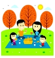 Family Fun Picnic at The Park vector image vector image