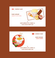 fast food set business cards vector image vector image