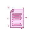file document list icon design vector image vector image