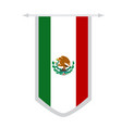 flag of mexico on a banner vector image
