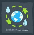 flat cycle eco infographic background concept vector image vector image