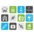 Flat Medicine and healthcare icons vector image vector image