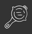 frying pan chalk icon virtual video game vector image vector image