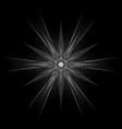 geometric pattern icon star astrology pentagram vector image vector image