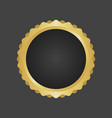 golden and black luxury metallic badge template vector image vector image