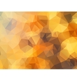 Golden polygon abstract background vector image