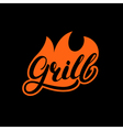 Grill hand written lettering logo label madge or vector image vector image