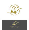 h h handdrawn brush monogram calligraphy logo vector image vector image