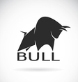 image of an bull design vector image vector image