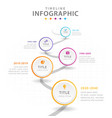 infographic template for business 5 steps modern vector image vector image