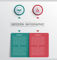 infographics design template color buttons and 2 vector image vector image