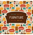 Interior background with furniture in retro style vector image vector image
