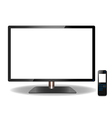 LED or LCD TV and Remote Touch screen- Design vector image