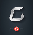 Letter C silver font Elegant Template for company vector image