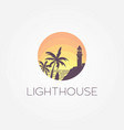 lighthouse logo byron bay vector image