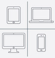 line icon- devices vector image