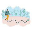 man walking to destination point vector image vector image
