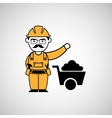 man worker mining design icon vector image