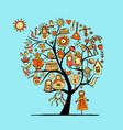 maslenitsa or shrovetide art tree for your design vector image vector image